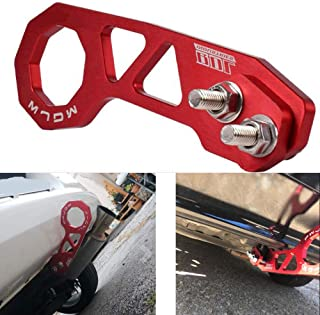 LZKZPY Rear Tow Towing Hook for Universal Car Auto Trailer Ring Aluminum Racing Trailer Hook (Red)