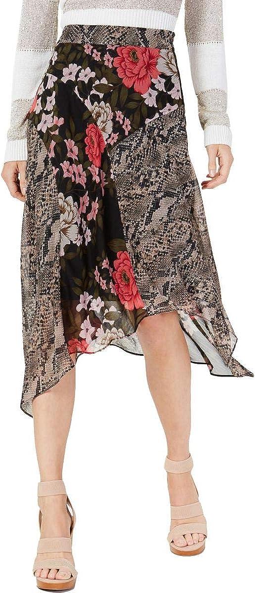 INC International Concepts Mixed-Print Floral Midi Skirt (Blossom Snake, 12)