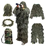 Best Ghillie Suits - Goetland 5 PCS Camo 3D Ghillie Suit Kit Review