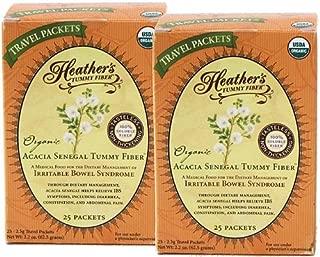 Heather's Tummy Fiber Organic Acacia Senegal Travel Packets (2 Boxes)