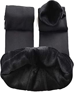 SVOKOR Women Winter Warm Velvet Lined Leggings, Elastic Thick Fleece Tights Thermal Pants