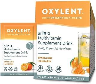 Oxylent - Multivitamin Suplplement Drink Sparkling Mandarin 5 in 1 Formula- 6.6 oz. (30 servings)