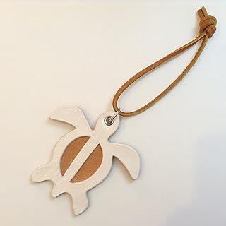 Jam's Ukulele SNY-003 / ホヌのバッグチャーム 本牛革 レザー ホヌ ALOHA ハンドメイド 手作り オリジナル プレゼント