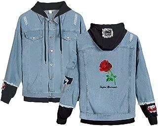 Landove Payton Moormeier Hoodie Unisex Demin Jeans Jacket A15189NZ01