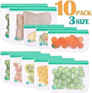 Opret Bolsas Alimentos Reutilizables, 10 Bolsas Congelar