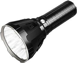 Imagent MS18 LED-zaklamp, extreem krachtig, oplaadbaar, militair, 100.000 lumen, 18 stuks, Cree XHP70, 2. LED-display, wat...