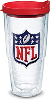 Tervis NFL National Football League Logo Tumbler with Emblem and Red Lid 24oz, Clear