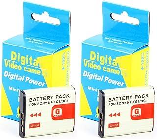 Disko - 2X Batería NP-BG1 NPBG1 NP-FG1 NPFG1 960mAh para Sony HDR-GW55VE, HDR-GW77V, Cyber-shot Cybershot: DSC-H10 DSC-H20 DSC-H3 DSC-H50 DSC-H55 DSC-H7 DSC-H70 DSC-H9 DSC-H90 DSC-HX10 DSC-HX20 DSC-HX20V DSC-HX5 DSC-HX5V DSC-HX7 DSC-HX9 DSC-HX9V DSC-N1 DSC-N2 DSC-T100 DSC-T20 DSC-T25 DSC-W100 DSC-W110 DSC-W120 DSC-W130 DSC-W170 DSC-W200 DSC-W215 DSC-W220 DSC-W270 DSC-W275 DSC-W30 DSC-W300 DSC-W35 DSC-W40 DSC-W50 DSC-W55 DSC-W70 DSC-W80 DSC-W85 y más modelos (ver descripción)