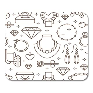 Yanteng Mouse Pads Mouse Pads Jewelry Line of Jewels Accessories Gold Engagement Rings Diamond Pearl Necklaces Charms Watches Store Mouse Pad for notebooks,Desktop Computers mats