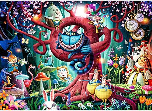 Adult puzzle 1000 piezas (Alice in Wonderland Puzzle juego educativo juguete desafiante rompecabezas