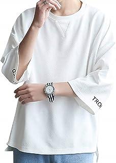 [ウルークレア] メンズ Tシャツ 七分袖 カットソー カジュアル ゆったり 夏服
