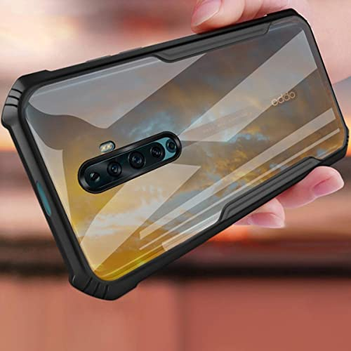SHINESTAR Case For Reno 2Z Reno 2F Hard Plastic Transparent Cover And Soft Silicone TPU With Shockproof Case For Oppo Reno 2Z Reno 2F Phone Cover Black