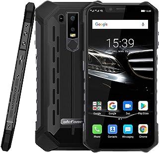 Ulefone Armour 6E IP68 / IP69K防水ロック解除堅牢スマートフォン、4GB + 64GB 6.2インチオクタコア、16MP + 2MPデュアルリアカメラ、防塵耐衝撃、フェイスIDおよび指紋識別携帯電話 (ブラック)