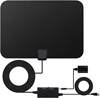 HD TV Antenna, Digital Signal HDTV Antenna 60-80 Miles Range VHF/UHF Freeview Local TV Channels, Switch Console Amplifier Booster 16.5 Feets Long Coaxial Cable