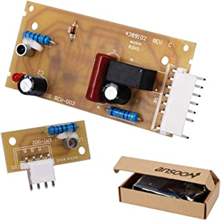4389102 Refrigerator Ice Maker Optic Level Control Board Kit Replacement for Whirlpool Kenmore Emitter Sensor W10757851 2198586 W10193840