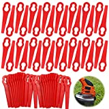 Cuchillas de Plástico Cortacésped,120pcs Cuchillas Cortador de Césped Repuesto,Cuchillas de Plástico Hierba,Cuchillas de Repuesto Rojo,Cuchillas de Repuesto de Plástico,Cuchilla de plástico