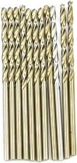 HONJIE High Speed Steel 2mm Twist Drill Bit for Wood, Soft Metal, Plastic, Aluminum Alloys 10pcs