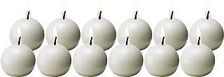 Biedermann & Sons Ball Candles, 1.5-Inch, White, Box of 12