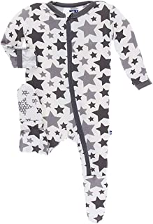 Little Boys and Girls Essentials Print Footie with Zipper