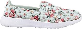 KazarMax Women's Sea Green Slipon's Walking Sneakers (Size : 38) [PML003-SEA-GREEN]