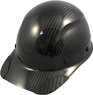 DAX Actual Carbon Fiber Cap Style Hard Hat - Glossy Black