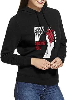 Green Day American Idiot Womens Fall Black Sweatshirt Hood Sport Pullover Hoodie