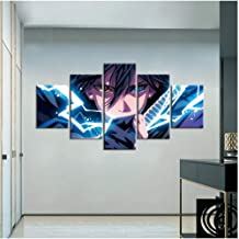 Naruto Anime Painting Wallpaper Artwork Room Decor Sofa Background Wall Painting Sasuke Poster Wall Stickers with framed 4...