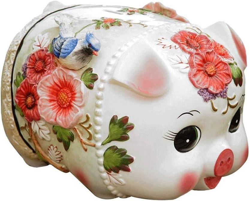 LC_Kwn Max 89% OFF Ceramic Piggy Bank Number 70% OFF Outlet Coin Huge Decoration