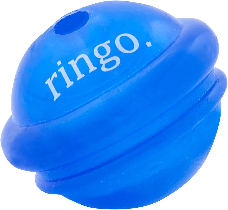 Planet Dog Orbee Tuff Ringo, Saturn Dog Ball Toy, Made in The USA, Medium, Royal bluee