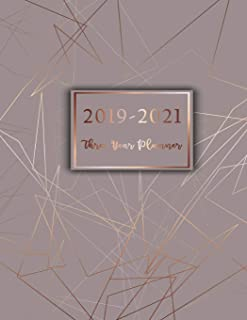 2019-2021 Three Year Planner: Three Year Calendar Planner, 36 Months Planner and Calendar, Monthly Calendar Planner, Cover 8.5 x 11 Inches, Personal ... Monthly Planner, 3 Year) (Volume 1)