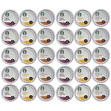 Starbucks Coffee K-Cups for Keurig Brewer 30 Piece Variety Pack