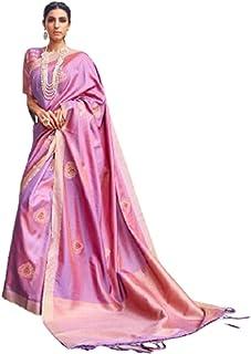 بلوزة نسائية هندي ناعمة من الحرير بناراسي ناعم من مصمم تقليدي أرجواني 5760
