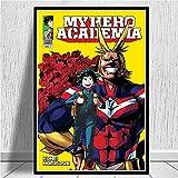 Anime Cartoon Manga My Hero Academia Personaje All Might Bakugou Katsuki Lienzo Pintura Arte de la pared Poster Boy Fans Dormitorio Sala de estar Decoración para el hogar Mural