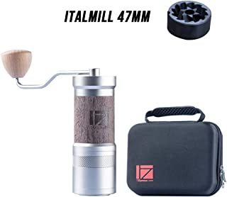 1Zpresso JE-PLUS Manual Coffee Grinder with Assembly Italmill Coated Conical Burr, Magnet Catch Cup Capacity 40g, Numerical Adjustable Finely Setting, Faster Grinding Efficiency ideal for Espresso