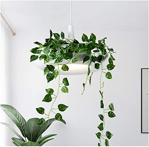 Y.H.Valuable Eclairage de Plafond Pendentif Moderne lumière Simple Restaurant Plafond éclairage Nordique Pastorale Plante Verte accrocher Lampe Lustre Pot de Fleur Lustres Luminaires intérieur