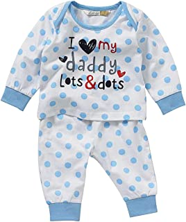 Lullaby Toddler Boys Rocket Spaceship Striped Long Pyjamas