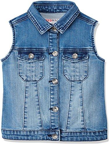 RED WAGON Mädchen Jacke Rip Denim Waistcoat, Blau (Blue), 104 (Herstellergröße: 4 Jahre)