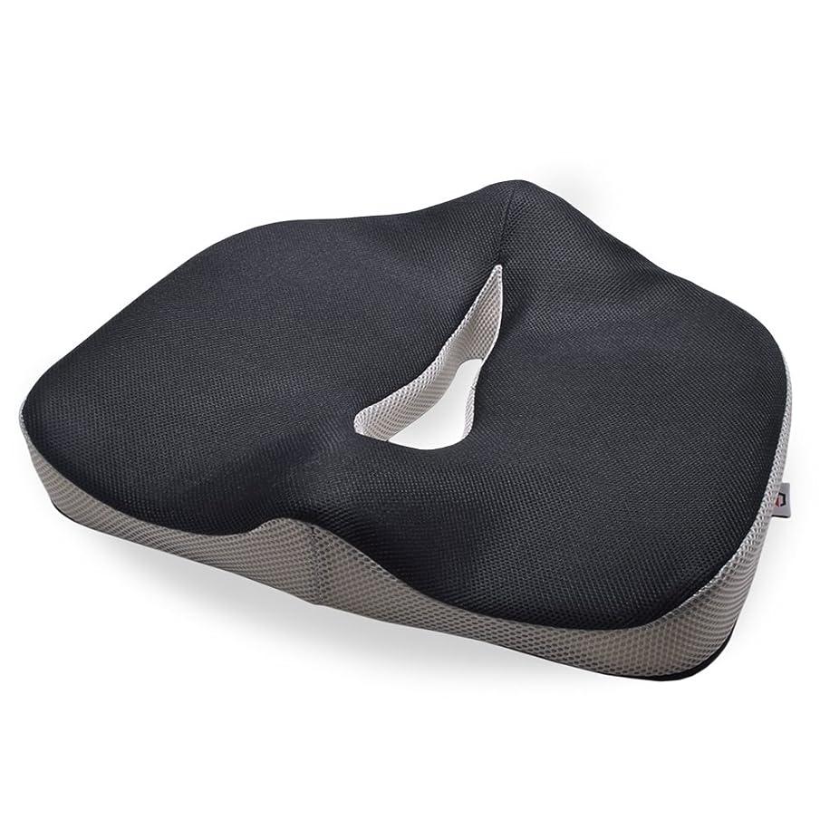 シビックインカ帝国技術者グロング 低反発 健康クッション 座布団 腰?お尻への負担を軽減 滑り止め加工付き 2トーンカラー