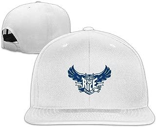 Rice Owls University Sport Snapback Flat Baseball Fit Cap Ash
