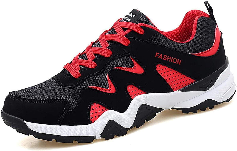 Mzq-yq Men's Sneakers Running shoes Men's Casual shoes Non-slip Wear-resistant Rubber shoes Lace-up shoes