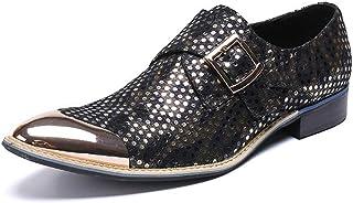 Chaussures Monk,Chaussures Robe de mariée Banquet des hommes Chaussures en cuir d'affaires Classique Boucle Chaussures en ...