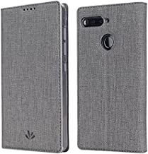 Oneplus 5T case,Feitenn OnePlus 5T Premium Flip Leather PU Wallet Smart Case Stand Kickstand Card Holder Magnetic Silicone Clear TPU Bumper Slim Thin Cover Case for One Plus 5T 1+5T (Grey)