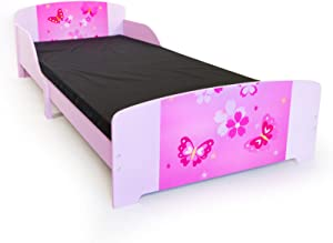 homestyle4u kinderbed tienerbed juniorbed vlinder kinderen bed 90 x 200 kinderkamer