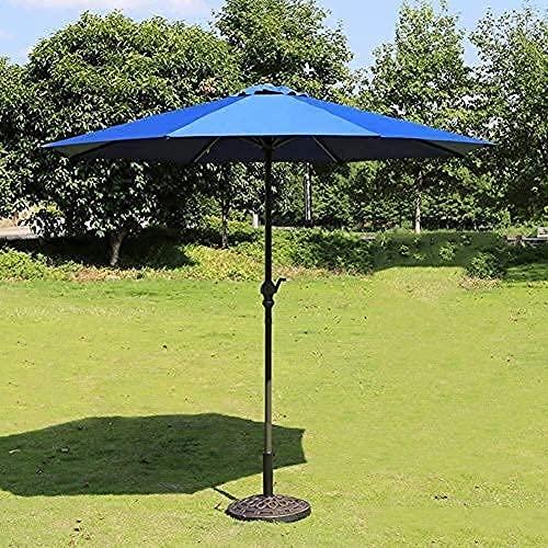 WQF Haushaltswaren Sonnenschirm Sonnenschirm Garten Sonnenschirme Outdoor Regenschirm Markt Terrasse Garten Rasen Tisch Sonnendach Eisenstange Regenschirm UV-Schutz...