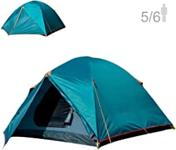 NTK Colorado GT 5 to 6 Person 10 by 10 Foot Outdoor Dome Family Camping Tent 100% Waterproof 2500mm, Easy Assembly, Durable Fabric Full Coverage Rainfly - Micro Mosquito Mesh