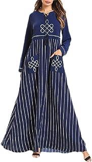 Joe Wenko Men Ethnic Style Stand Neck Floral Printed Basic Muslim Button Down Shirts