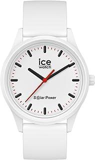 Ice-Watch - Ice Solar Power Polar - Montre Blanche Mixte avec Bracelet en Silicone - 017761 (Medium)