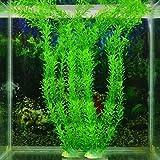 JKKJ Planta artificial de agua para acuario, adorno de plástico, arbustos verdes y arbustos, hierba de trigo para interiores y exteriores, decoración de jardín