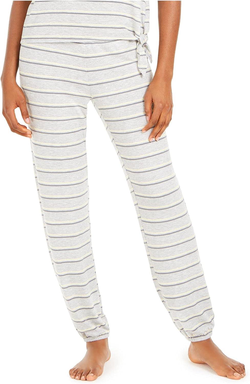 Alfani Intimates Gray Striped Sleepwear Pants Plus Size: 2XL