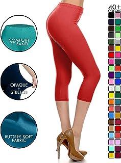 aeff038f5de460 Leggings Depot High Waisted Capri Leggings - Soft & Slim - 37+ Colors